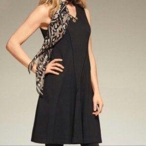 Cabi Ponte Performance Dress Medium Black 3649